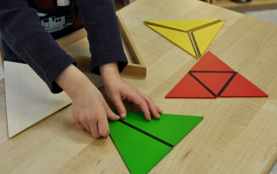 Montessori Triangles: Keeping Your Child Active